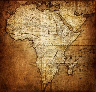 Wall mural vintage map Africa