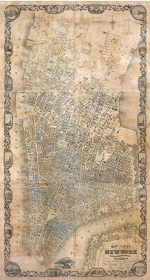 Wall mural Vintage  map of New York