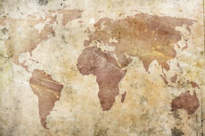 Wall mural vintage map of the world