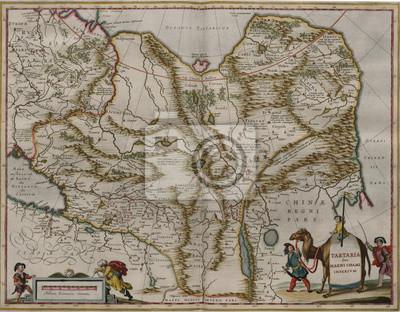 Vintage medieval map