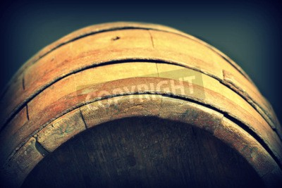 Wall mural Vintage photo of old wooden barrel