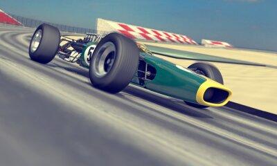 Wall mural vintage racer