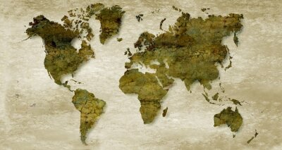Wall mural Vintage sepia world map background