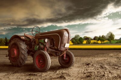 Wall mural Vintage Tractor