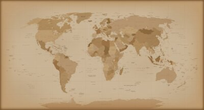 Wall mural Vintage World Map