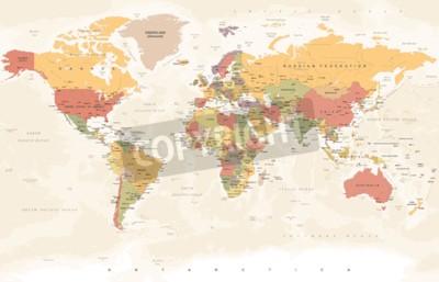 Wall mural Vintage World Map - Detailed Vector Illustration