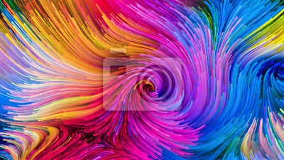 Virtual Life of Colorful Paint