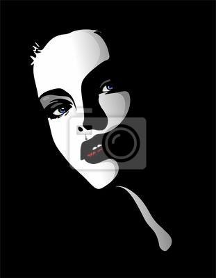 Viso Ritratto Bella Ragazza-Beautiful Girl's Portrait-Vector