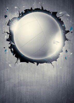 Wall mural Volleyball background