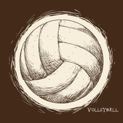 Wall mural Volleyball icon design