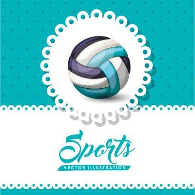 Wall mural volleyball league design