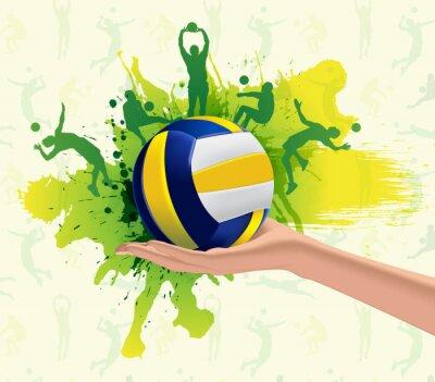 Wall mural Volleyball sport design background