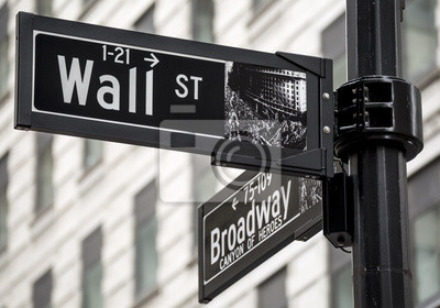 Wall mural Wall Street sign in New York city, USA.