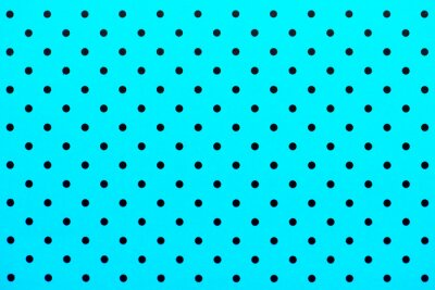 Wall mural wallpaper pattern black dots in turquoise color background