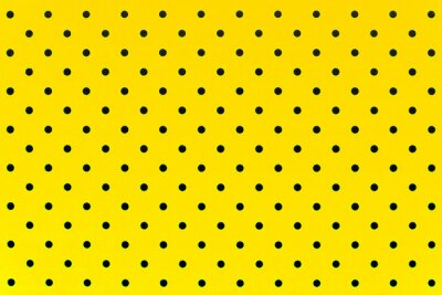 Wall mural wallpaper pattern black dots in yellow color background
