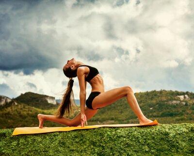 Wall mural Warrior yoga pose