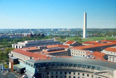 Washington DC city aerial view