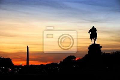 Washington DC silhouette