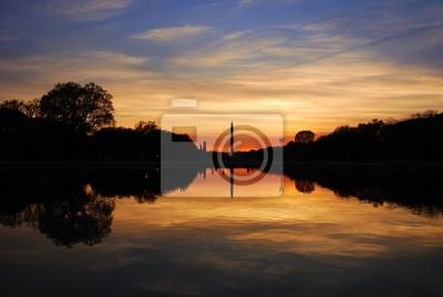 Washington monument at sunset, Washington DC