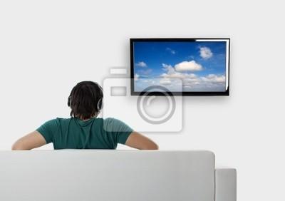 Wall mural Watching tv