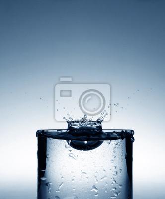 water drop falling down