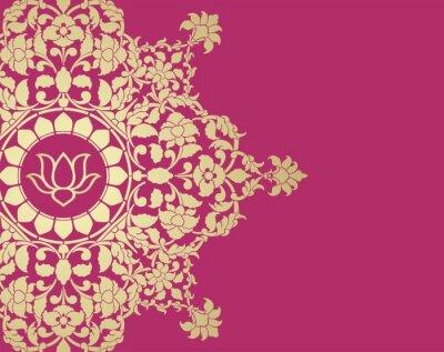 Wall mural water lily, wedding card design, royal India