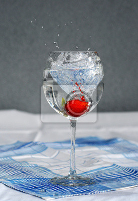 water with strawberry