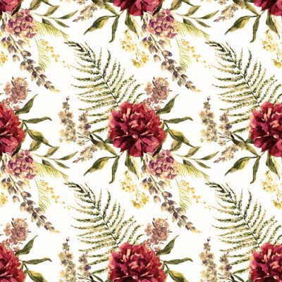 Wall mural Watercolor floral pattern