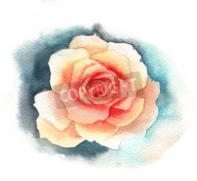 Wall mural Watercolor rose