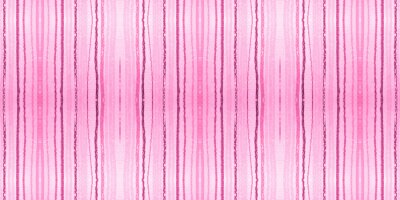 Wall mural Watercolour Pink Stripes Background. Grunge