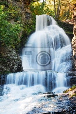 Wall mural Waterfall in Autumn