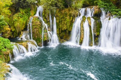 Wall mural Waterfalls of Martin Brod on Una national park, Bosnia and Herzegovina