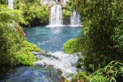 Wall mural Waterfalls of Ojos del Caburgua, Chile