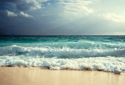waves at Seychelles beach