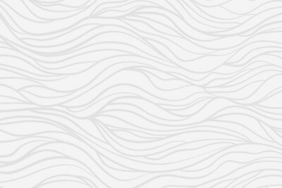 Wall mural Wavy background. Hand drawn waves. Stripe texture with many lines. Waved pattern. Line art. Black and white illustration