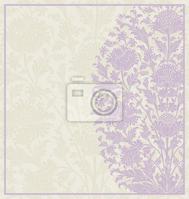 Wall mural wedding card design, paisley floral pattern , India