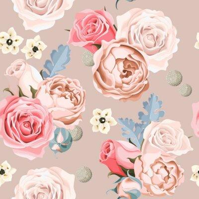 Wall mural Wedding flowers seamless