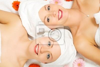 Wellness women and flowers