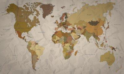 Wall mural Weltkarte - historische Karte mit Verlauf (hoher Detailgrad)
