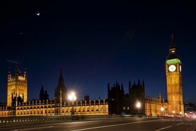 Wall mural westminster and the big ben by night