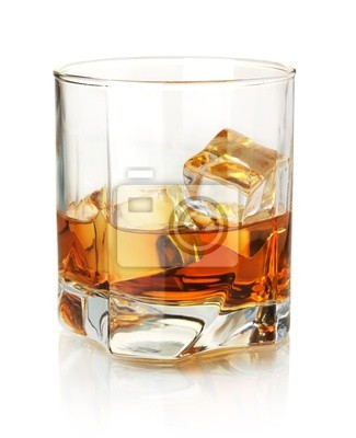 Wall mural Whiskey glass