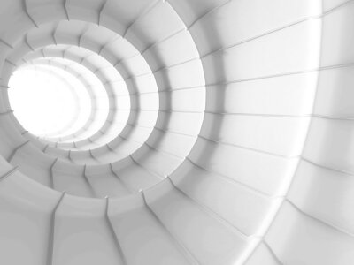 Wall mural White Abstract Tunnel Design Background