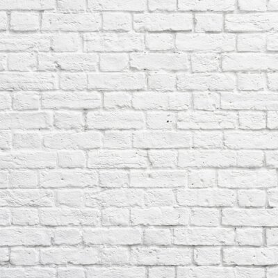 Wall mural White brick wall
