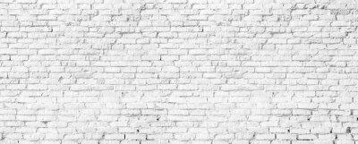 Wall mural white brick wall texture