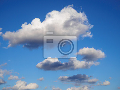 Wall mural White clouds in blue sky