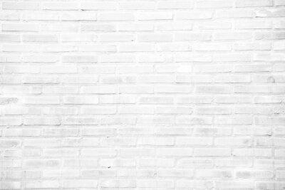Wall mural White grunge brick wall texture background