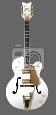 Wall mural white guitar