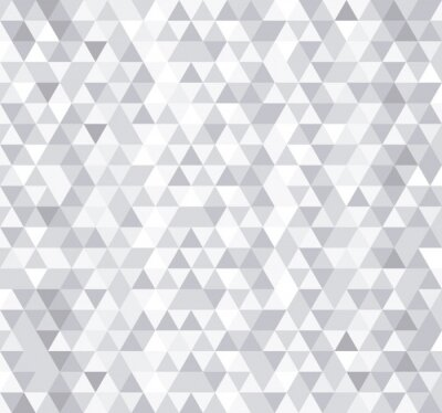 Wall mural White triangle tiles seamless pattern, vector background.