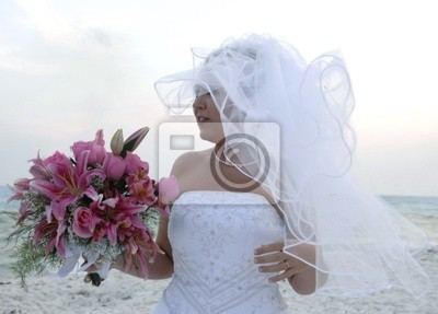 wind blown bride