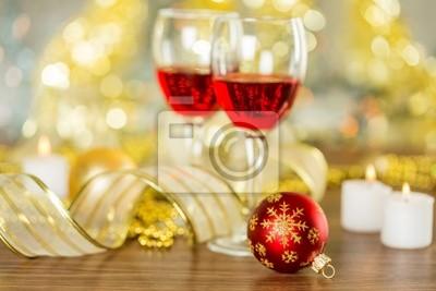 Wine and Christmas Lights